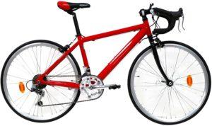 Bicicletta-Ibrida-Uomo-24-Denver-Bike-Corsa-Rossa